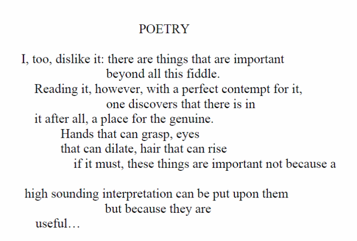 Poetry by marianne moore analysis essay